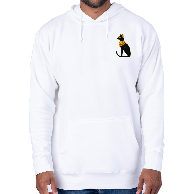 Patricia Velasquez Egyptian Cat Pullover Hoodie in White