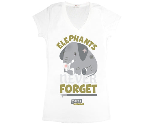 "PeTA ""Elephant"" Women's V-Neck"