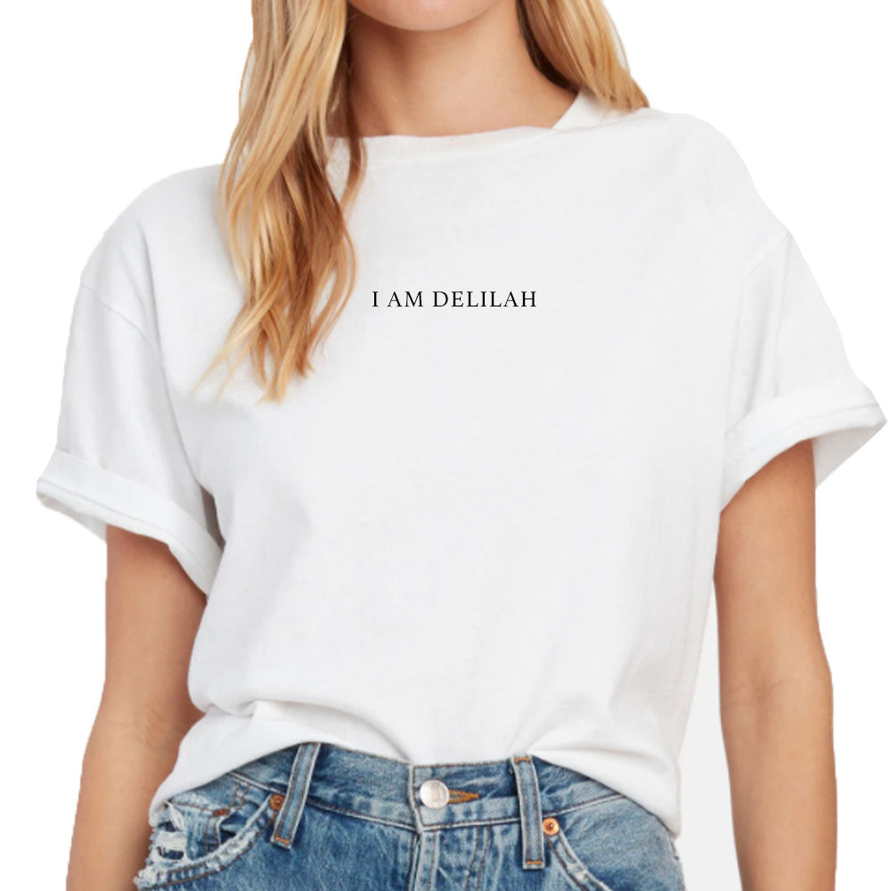 "Plain White T's ""I Am Delilah"" Women's Boyfriend T-Shirt In White"
