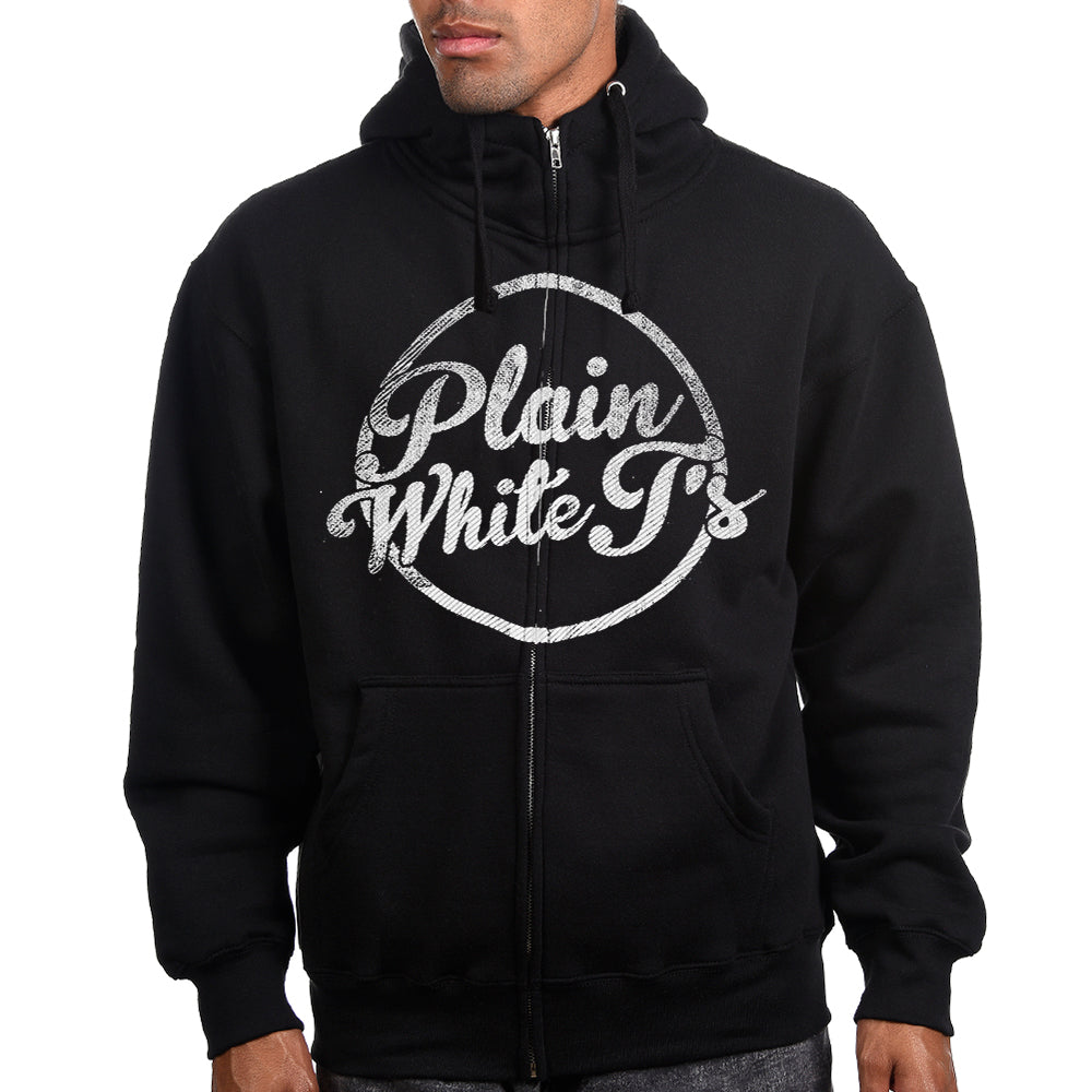 "Plain White T's ""Circle Logo"" Zip Hoodie"