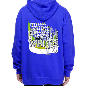 "Plain White T's ""Vertical Logo"" Zip Hoodie - Blue"