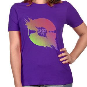 "Plain White T's ""Vinyl"" Women's T-Shirt - Purple"