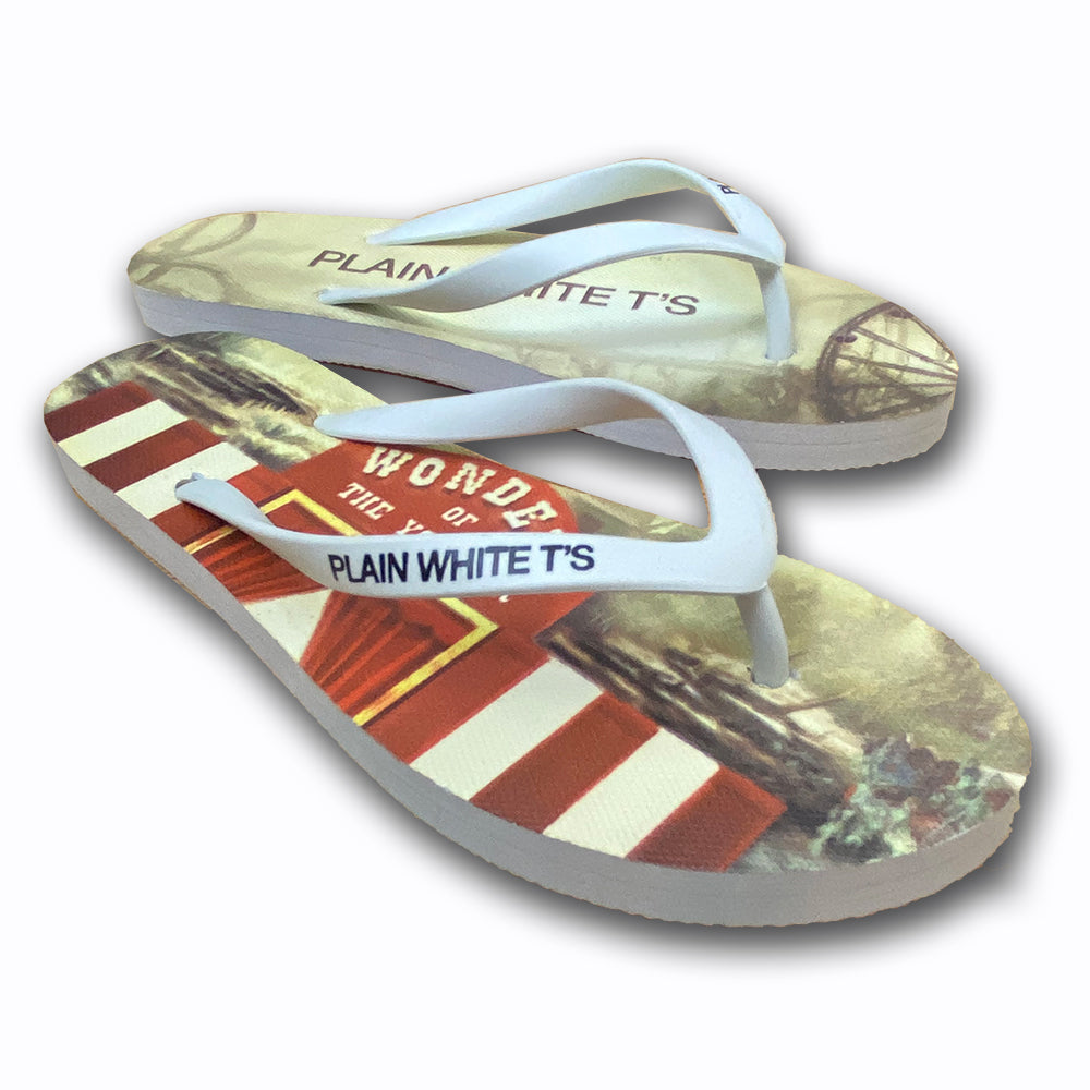 "Plain White T's ""Wonders Of The Younger"" Women's Flip Flops"