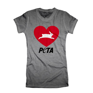 "PeTA ""Heart"" Women's T-Shirt"