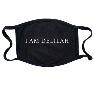 "Plain White T's ""I Am Delilah"" Reusable and Washable Anti-Germ and Pollution Mask Cover in Black"