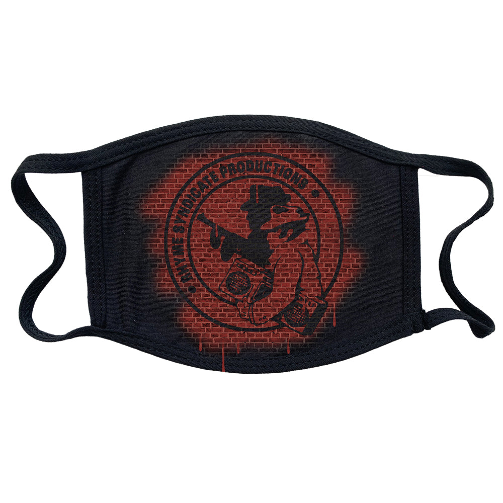 "Rhyme Syndicate ""Logo Bricks"" Reusable and Washable Anti-Germ and Pollution Mask Cover"