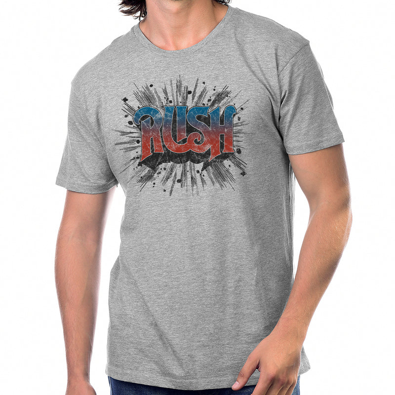 Rush Take a Friend in 1974 T-Shirt in Heather Grey