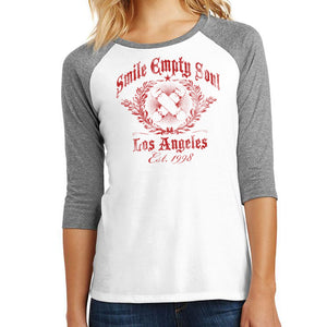 "Smile Empty Soul ""EST. 1998"" 3/4 Sleeve Women's Raglan Shirt"