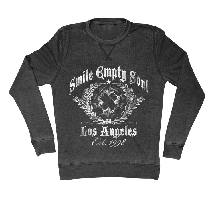 "Smile Empty Soul ""Established 1998"" Unisex Long Sleeve Thermal - Charcoal Grey"