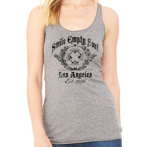 "Smile Empty Soul ""EST. 1998"" Women's Grey Racer Back Tank Top"