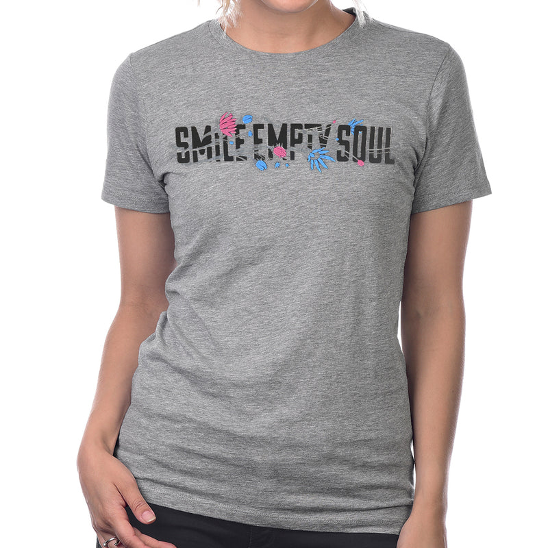 "Smile Empty Soul ""Flower Logo"" Women's Grey T-Shirt"