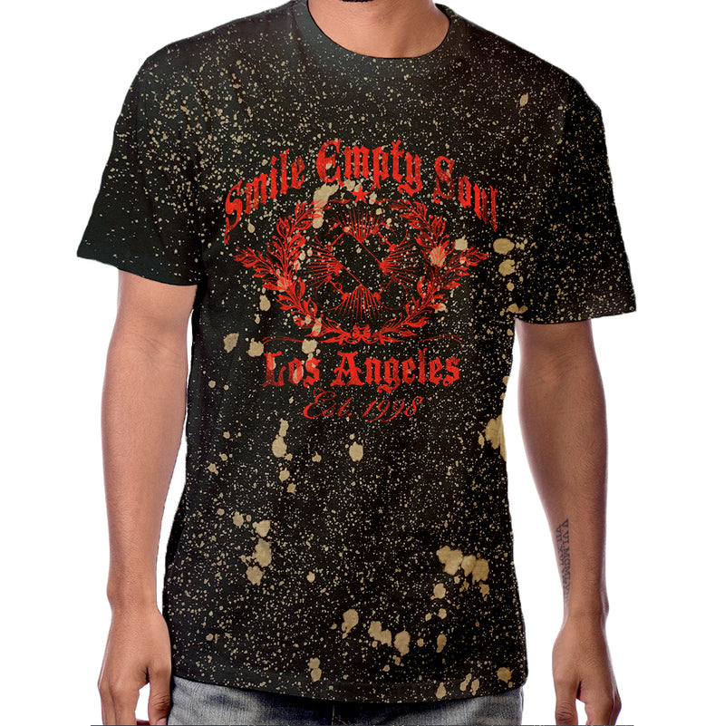 "Smile Empty Soul ""EST. 1998"" Bleach Splatter Dye T-Shirt"