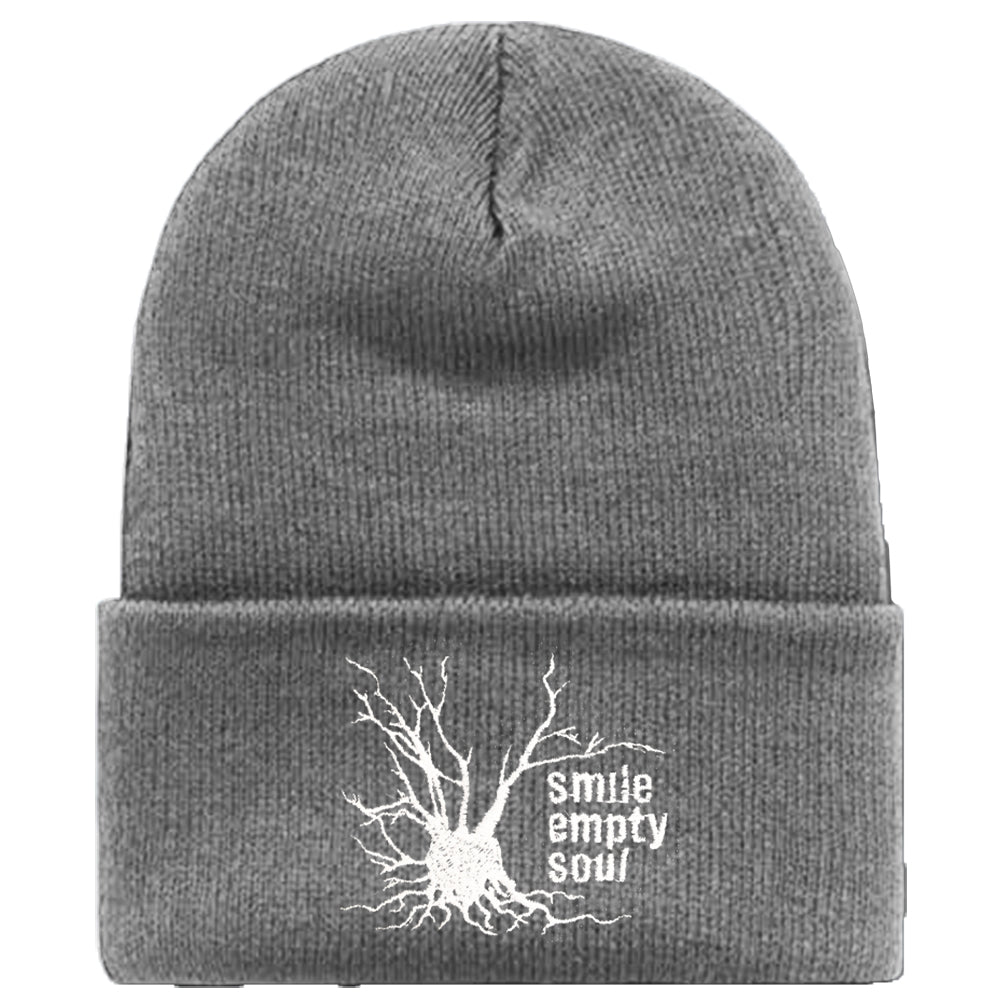 "Smile Empty Soul ""Tree Logo"" Knit Cap - Grey"