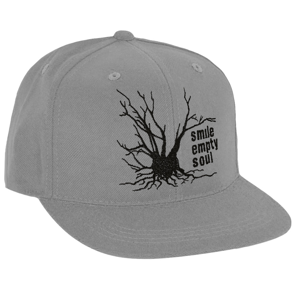 "Smile Empty Soul ""Tree Logo"" Snapback Hat - Charcoal Grey"