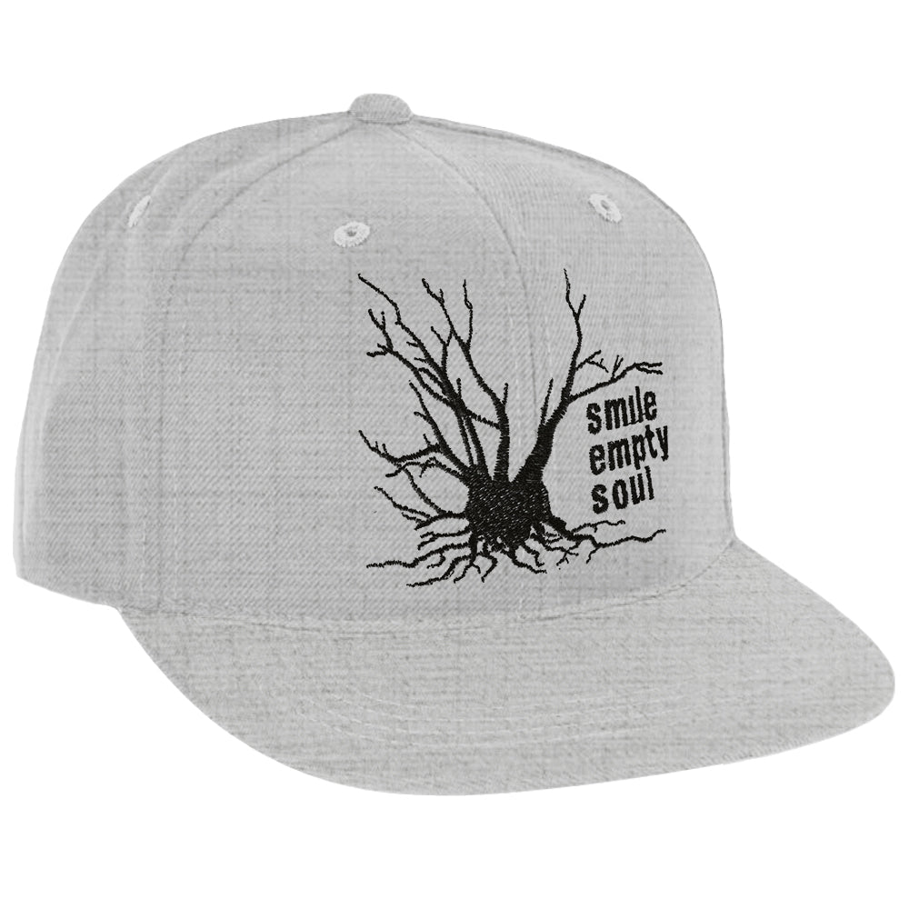 "Smile Empty Soul ""Tree Logo"" Snapback Hat In Heather Grey"