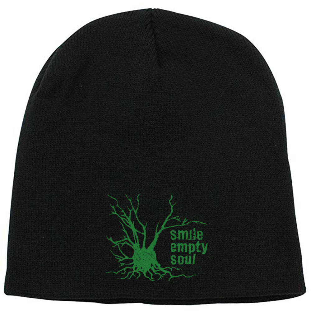 "Smile Empty Soul ""Tree Logo"" Beanie In Green"