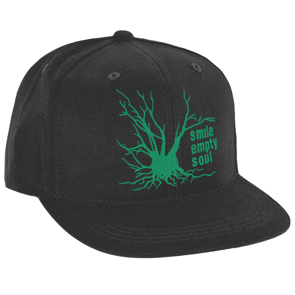 "Smile Empty Soul ""Tree Logo"" In Green Snapback Hat"