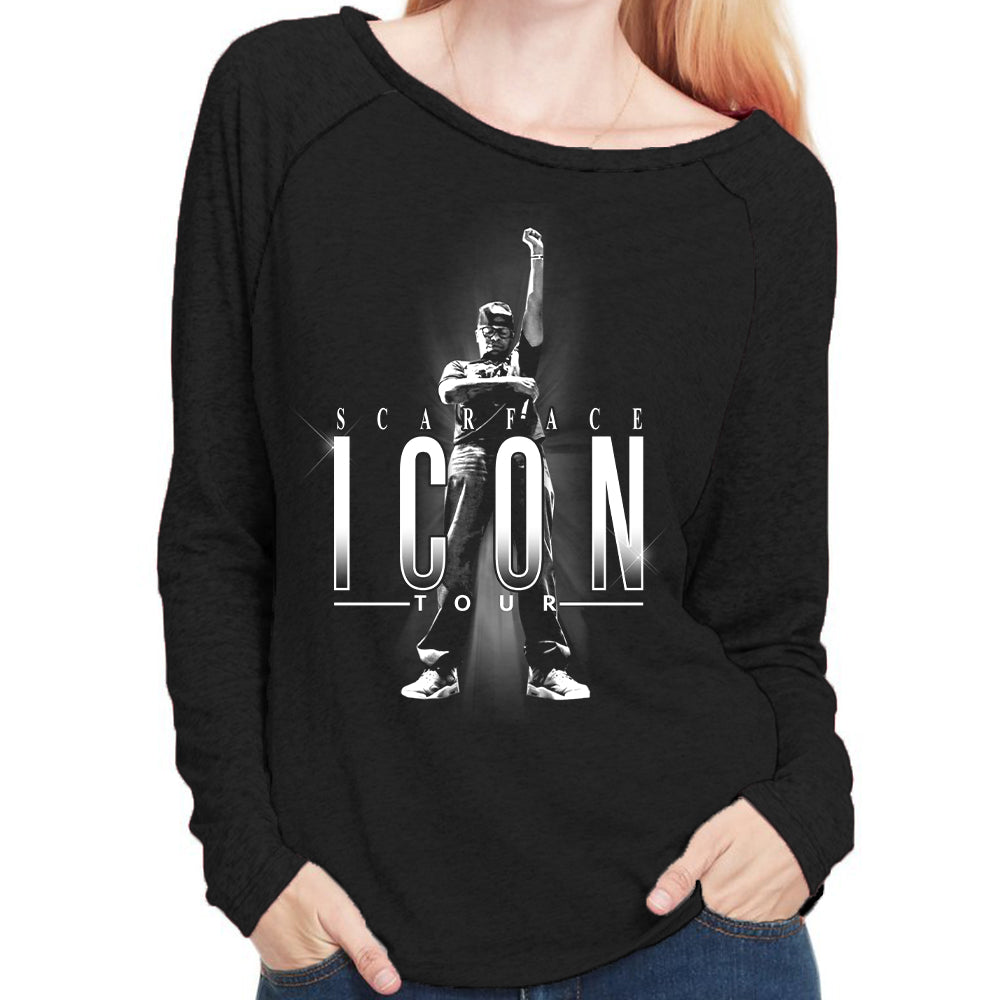 "Scarface ""Icon Tour"" Long Sleeves Women's Scoop Neck T-Shirt"