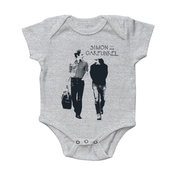 "Simon & Garfunkel ""Walking"" Heather Grey Onesie"