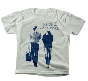 "Simon & Garfunkel ""Walking"" Kids Heather Grey T-Shirt"