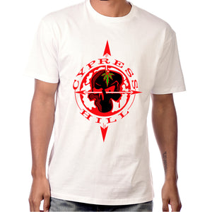 "Cypress Hill ""Skull & Compass"" White T-Shirt"