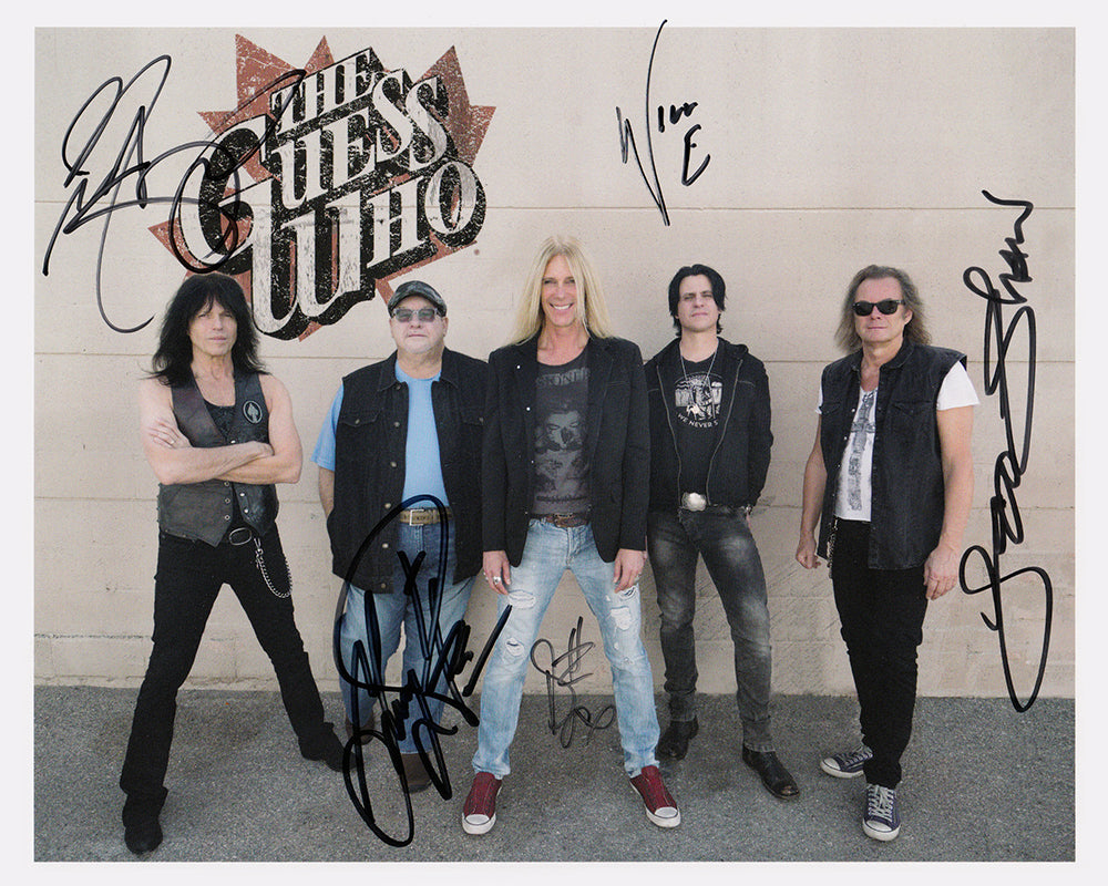 The Guess Who 2018 Autographed 8x10 Full Color Photo