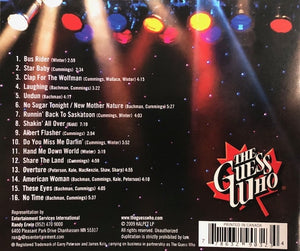 "The Guess Who ""LIVE IN CONCERT CD"""