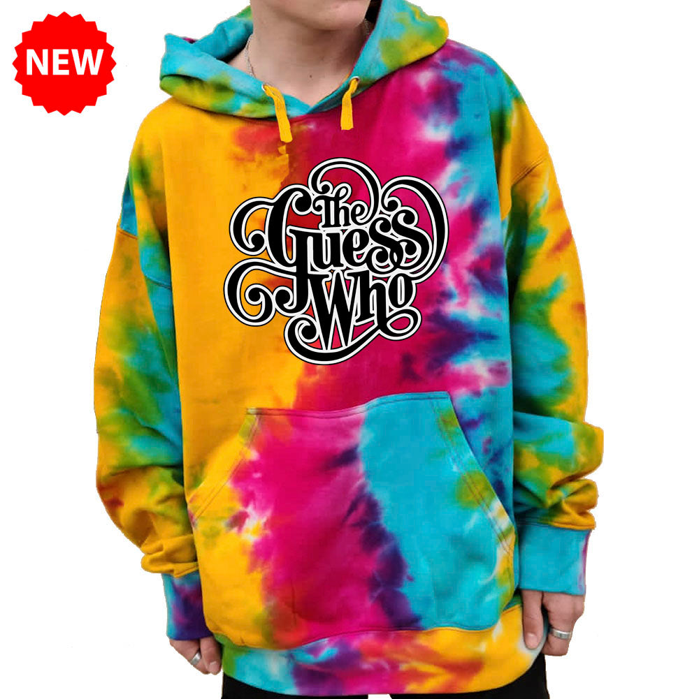 "The Guess Who ""Classic Logo"" Tie-Dyed Pullover Hoodie"
