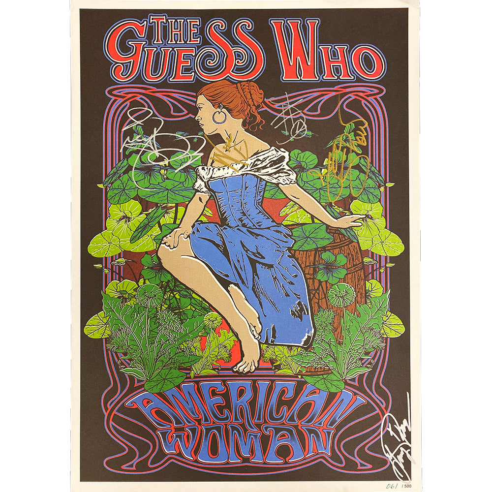 "The Guess Who LIMITED ""American Woman"" Autographed Poster"
