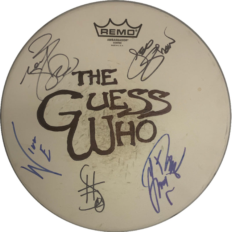 The Guess Who LIMITED Edition autographed drum head