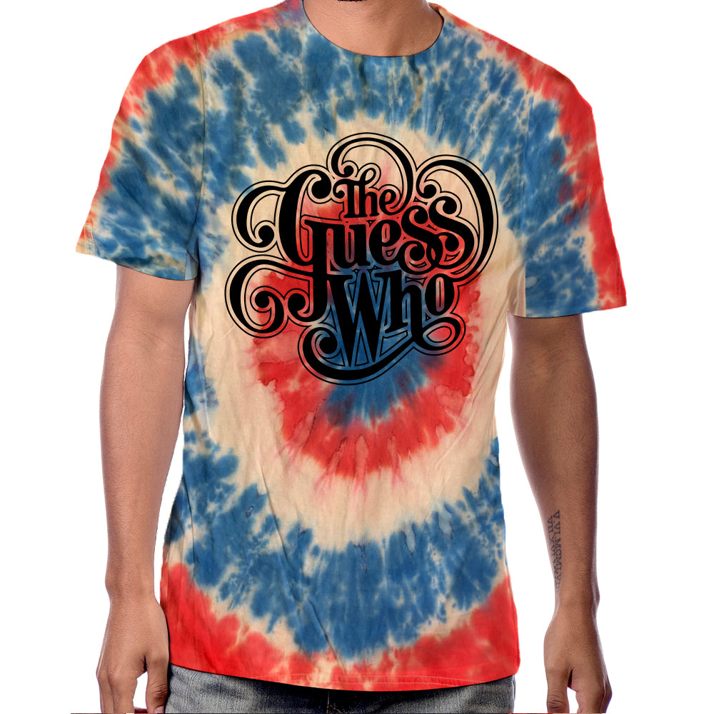 "The Guess Who ""Classic Logo"" Tye Dyed T-shirt"