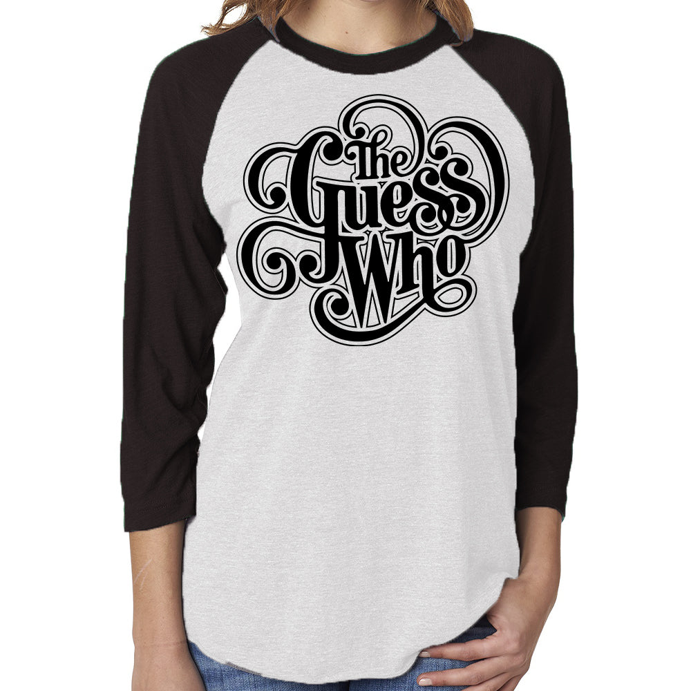 "The Guess Who ""Classic Logo"" Unisex 3/4 Sleeve Raglan"