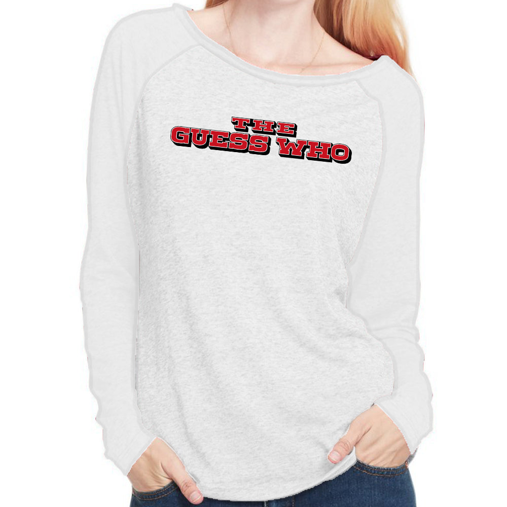 "The Guess Who ""Coin Logo"" Long Sleeve Scoop Neck Shirt"
