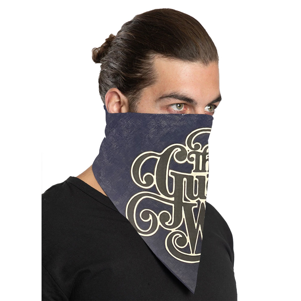 "The Guess Who ""Classic Logo"" Bandana in Navy"