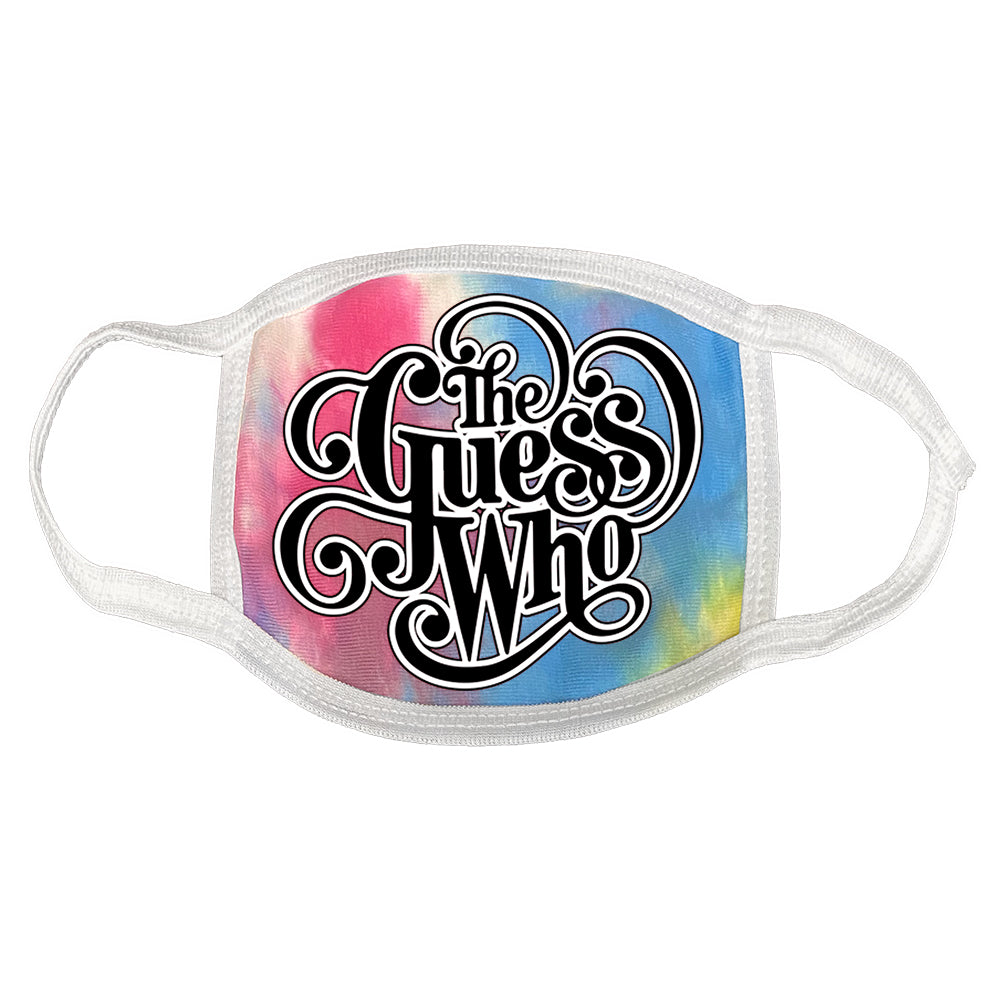 "The Guess Who ""Classic Logo"" mask in Tie Dye"
