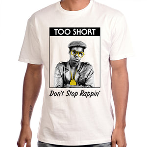 "Too $hort ""Rappin'"" Men's White T-Shirt"