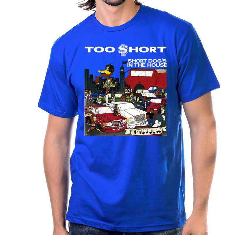 "Too $hort ""$hort Dog's In The House"" T-Shirt in Blue"