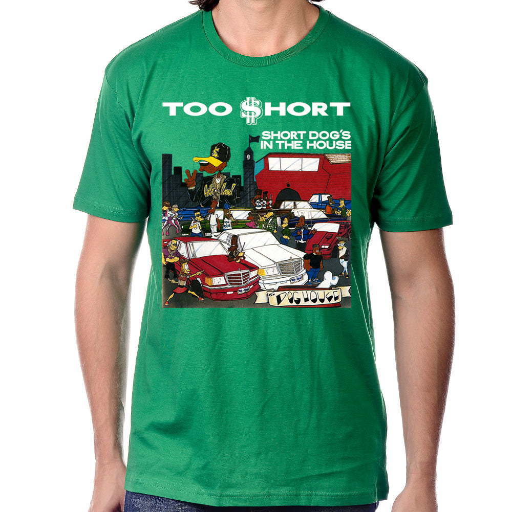 "Too $hort ""$hort Dog's In The House"" Green T-Shirt"