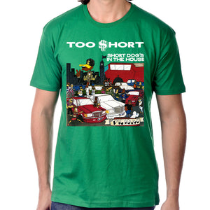 "Too $hort ""Short Dog In The House"" T-Shirt in Green"