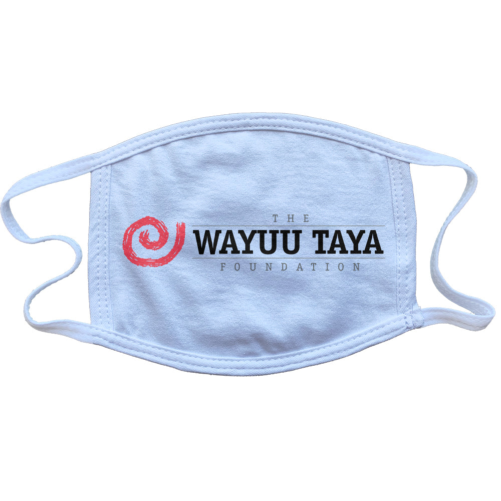 "Wayuu Taya ""Logo"" Reusable and Washable Anti-Germ and Pollution Mask Cover in White"