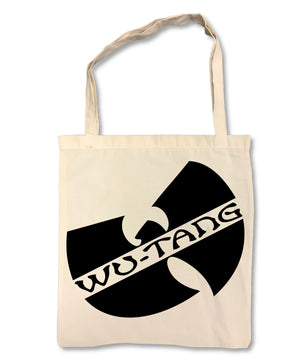 "WU-TANG CLAN ""Logo"" on Tan Tote Bag"