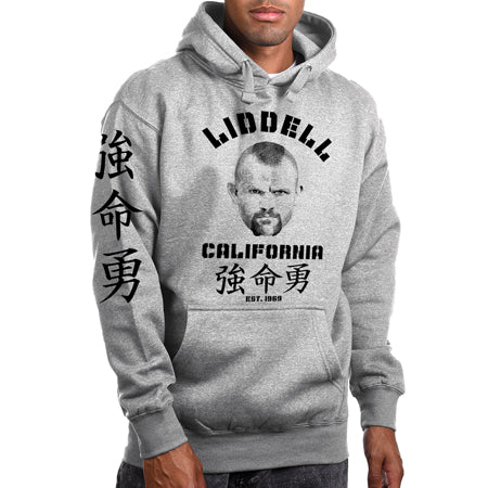 "Chuck Liddell ""EST 1969"" Grey Pull Over Hoodie"