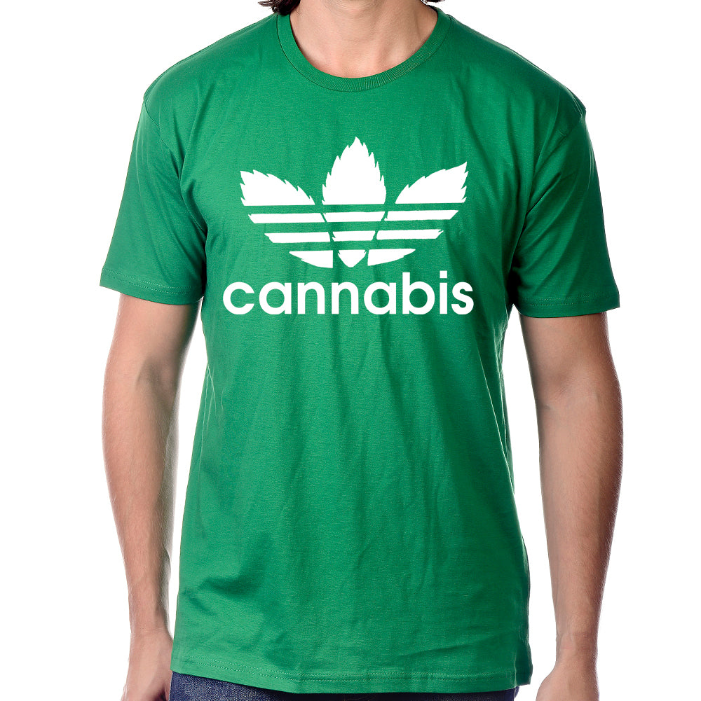 "Pure Virtue ""Cannabis"" T-Shirt In Green"