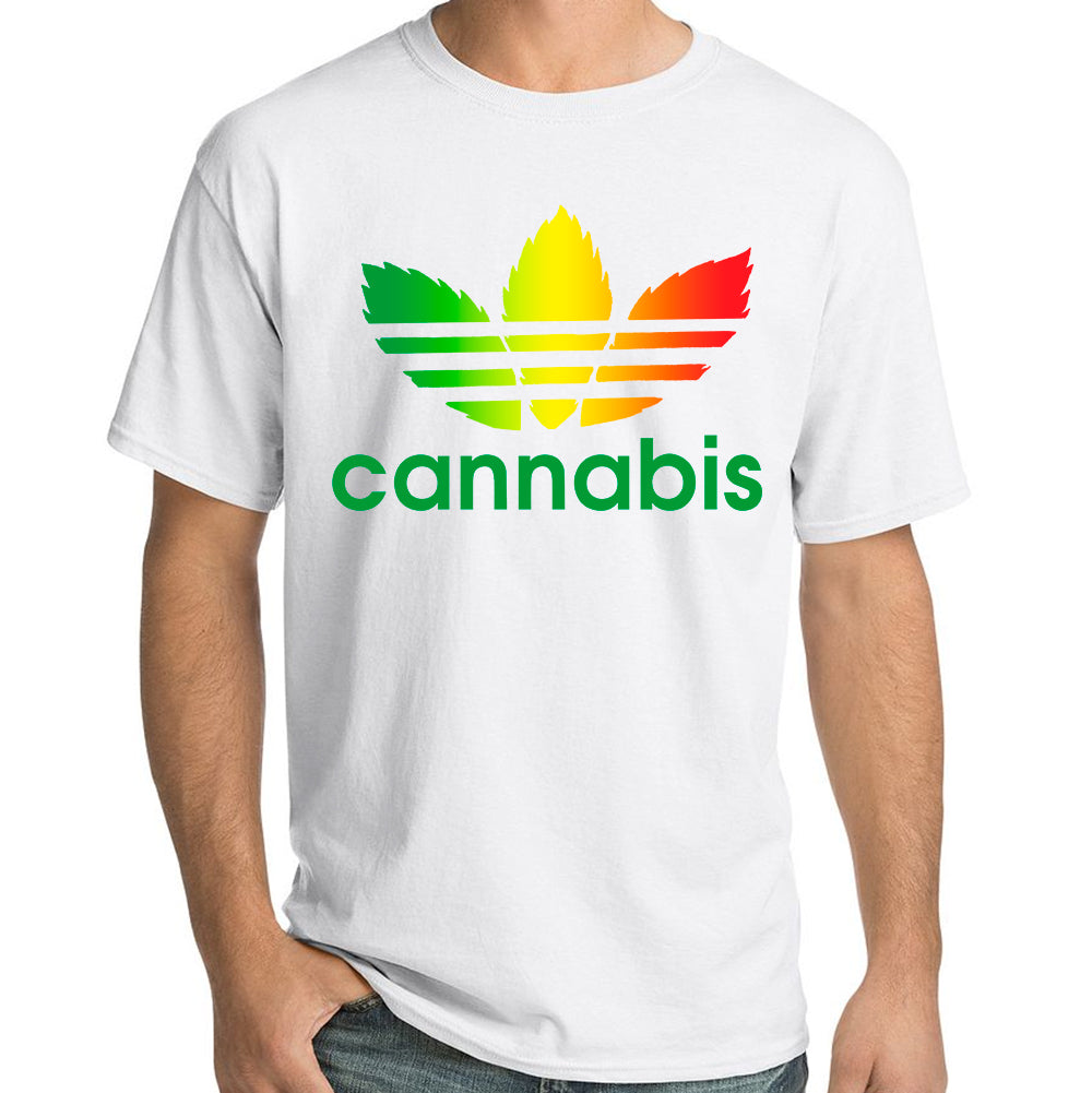 "Pure Virtue ""Cannabis"" T-Shirt In White"