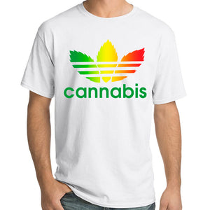 Pure Virtue Cannabis T-Shirt In White