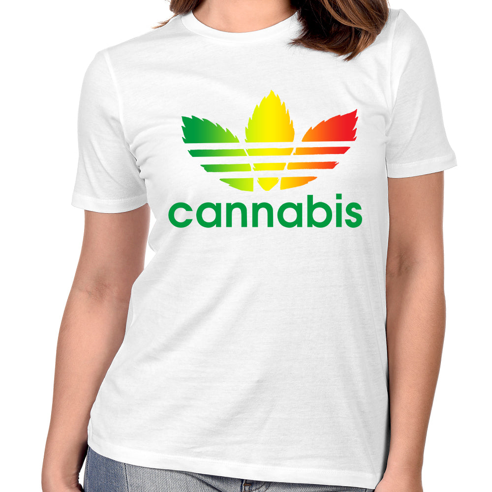 "Pure Virtue ""Cannabis"" Women's T-Shirt In White"