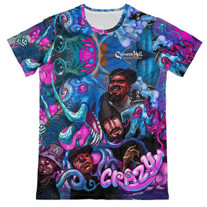 "Cypress Hill ""CRAZY"" Premium All Over Print Crew Neck T-shirt"