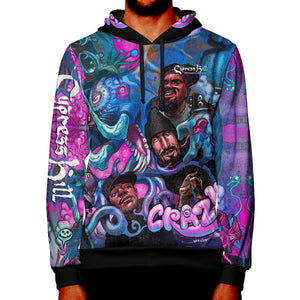 "Cypress Hill ""CRAZY"" Premium All Over Print Pullover Hoodie"