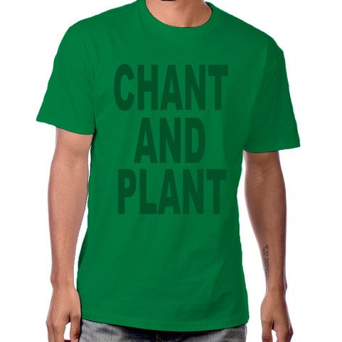 Pure Virtue Chant And Plant T-Shirt in Dark Green