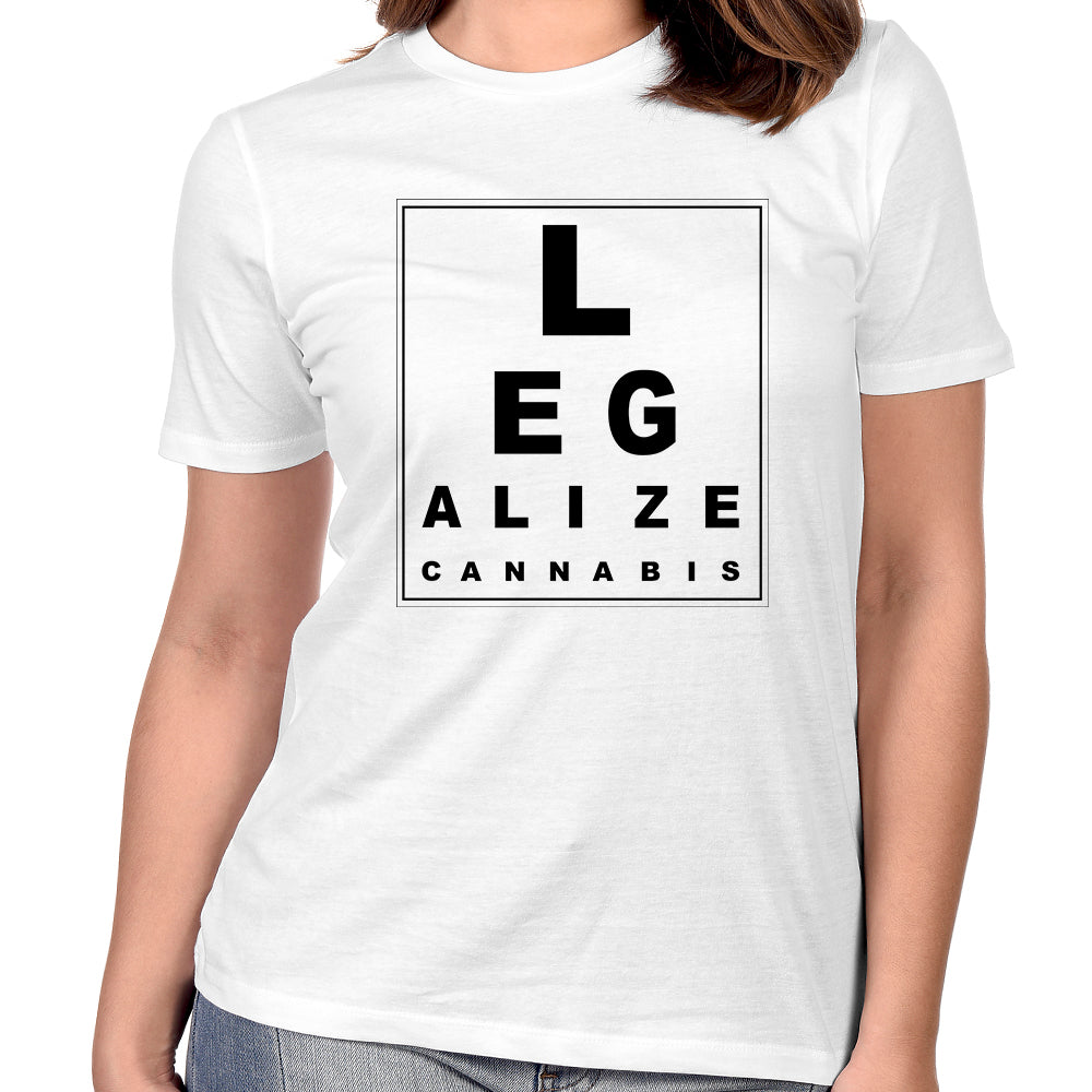 "Pure Virtue ""Eye Test"" Women's T-Shirt In White"